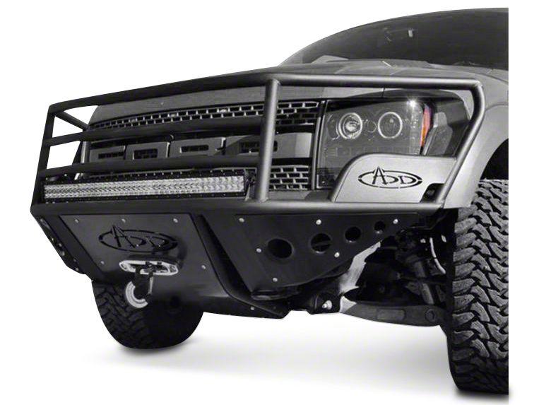 Addictive Desert Designs Rancher Front Bumper w/ Stealth Panels & Winch Mount (10-14 F-150 Raptor)