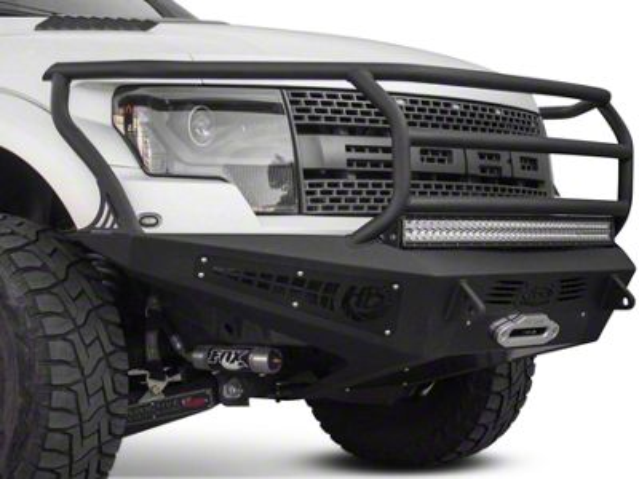 Addictive Desert Designs HoneyBadger Rancher Front Bumper w/ Winch Mount (10-14 F-150 Raptor)