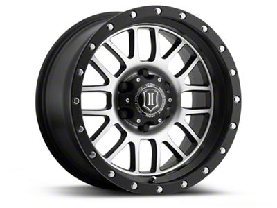 ICON Vehicle Dynamics Alpha Satin Black Machined 6-Lug Wheel - 17x8.5 (04-19 F-150)