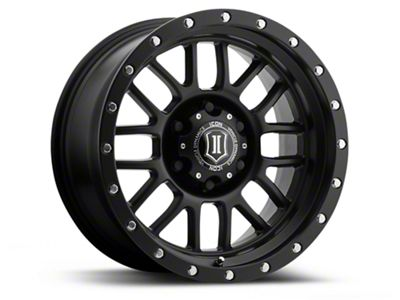 ICON Vehicle Dynamics Alpha Satin Black 6-Lug Wheel - 17x8.5 (04-18 F-150)