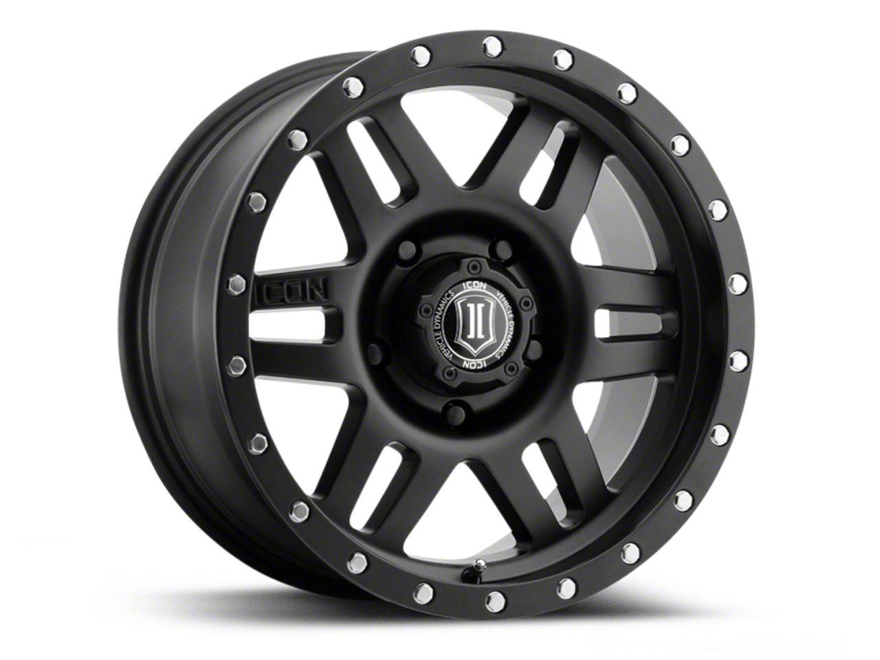 ICON Vehicle Dynamics Six Speed Satin Black 6-Lug Wheel - 17x8.5 (04-18 F-150)