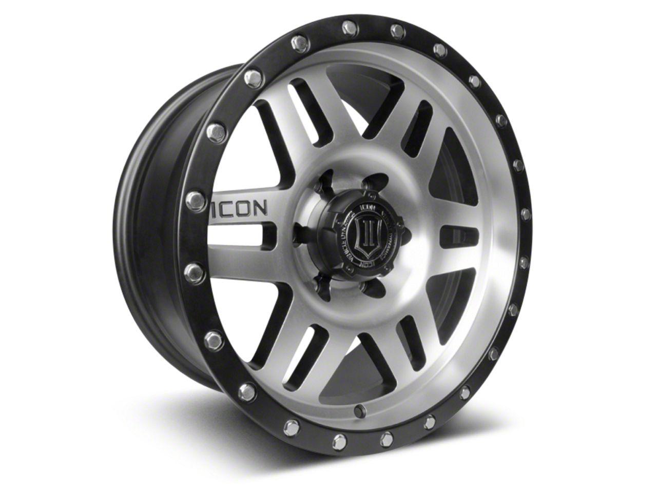 ICON Vehicle Dynamics Six Speed Satin Black Machined 6-Lug Wheel - 17x8.5 (04-19 F-150)