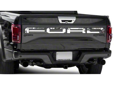 Polished F-O-R-D Tailgate Letters (17-19 F-150 Raptor w/ Tailgate Applique)