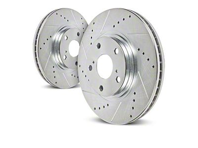 Power Stop Evolution Cross-Drilled & Slotted 7-Lug Rotors - Front Pair (04-08 4WD F-150)
