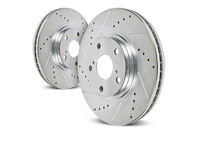Power Stop Evolution Cross-Drilled & Slotted 8-Lug Rotors - Rear Pair (00-03 2WD F-150)