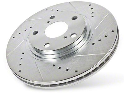 Power Stop Evolution Cross-Drilled & Slotted 5-Lug Rotors - Rear Pair (99-03 F-150 w/ Rear Disc Brakes)