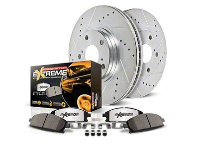 Power Stop Z36 Extreme Truck & Tow 8-Lug Brake Pad & Rotor Kit - Rear (00-03 2WD F-150)