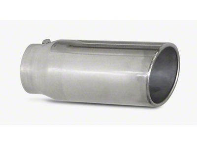 Pypes 5 in. Rolled Angled Cut Exhaust Tip - Polished Stainless - 2.5 in. Connection (97-19 F-150)