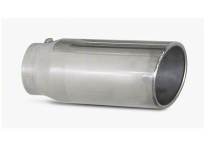 Pypes 5 in. Rolled Angled Cut Exhaust Tip - Polished Stainless - 3.0 in. Connection (97-18 F-150)