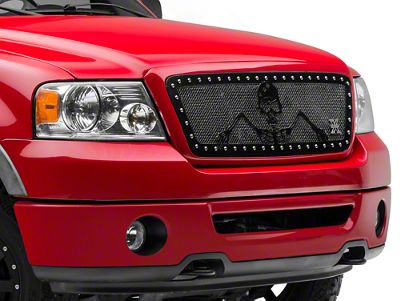 T-REX X-Metal Urban Assault Grunt Upper Grille Insert - Flat Black (04-08 F-150)