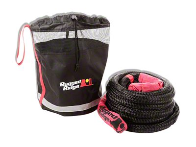 Rugged Ridge 7/8 in. x 30 ft. Kinetic Recovery Rope w/ Cinch Storage Bag