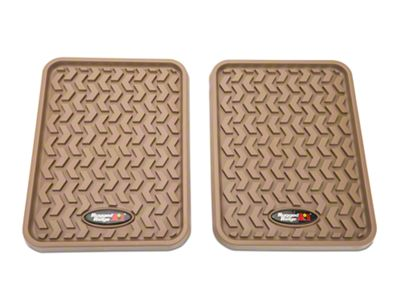 Rugged Ridge Rear Floor Liners - Tan (97-19 F-150 SuperCab, SuperCrew)