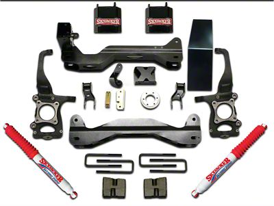 SkyJacker 6 in. Front Spacer Suspension Lift Kit w/ Black MAX Shocks (09-14 4WD F-150, Excluding Raptor)
