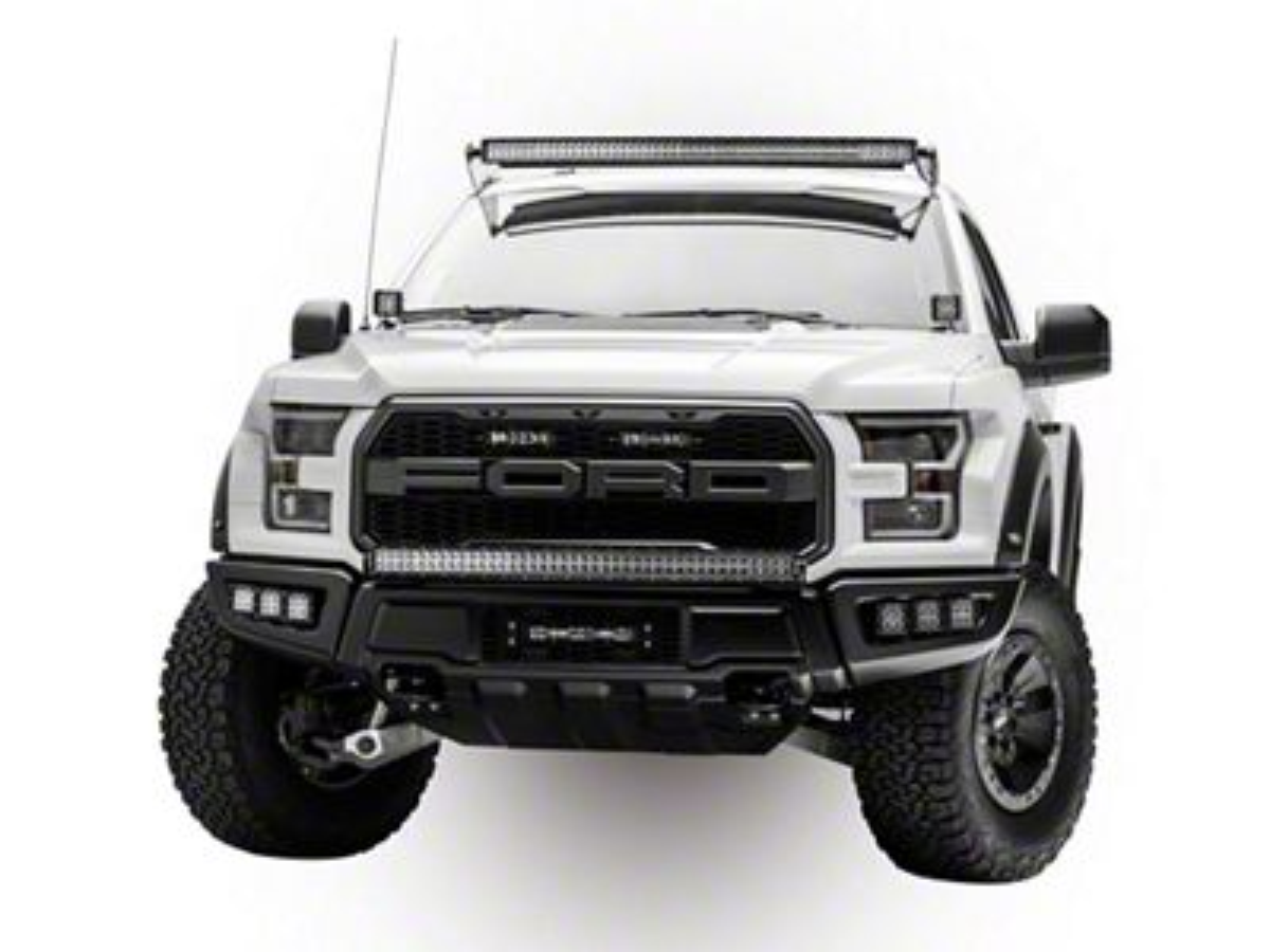 ZRoadz Two 6 in. LED Light Bars w/ Mounting Brackets for OEM Grille (17-19 F-150 Raptor)