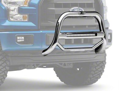 Black Horse Off Road Max Beacon LED Bull Bar - Stainless Steel (04-19 F-150, Excluding Raptor)