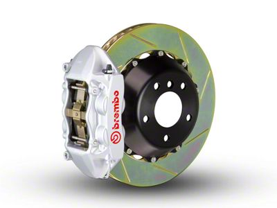 Brembo GT Series 4-Piston Rear Brake Kit - 2-Piece Slotted Rotors - Silver (15-19 F-150, Excluding Raptor)
