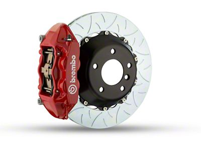 Brembo GT Series 4-Piston Rear Brake Kit - Type 3 Rotors - Red (15-18 F-150, Excluding Raptor)
