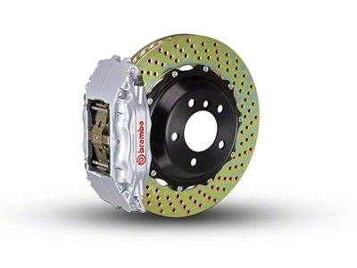 Brembo GT Series 4-Piston Front Brake Kit - 2-Piece Cross Drilled Rotors - Silver (00-03 2WD F-150)