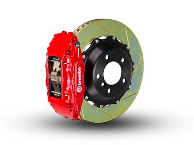 Brembo GT Series 4-Piston Front Brake Kit - 2-Piece Slotted Rotors - Red (97-03 4WD F-150)