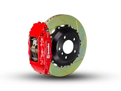 Brembo GT Series 4-Piston Front Brake Kit - 2-Piece Slotted Rotors - Red (00-03 2WD F-150)