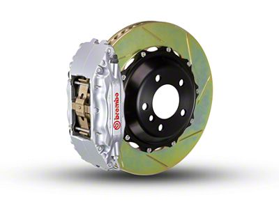 Brembo GT Series 4-Piston Front Brake Kit - 2-Piece Slotted Rotors - Silver (00-03 2WD F-150)