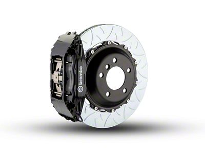 Brembo GT Series 4-Piston Front Brake Kit - Type 3 Slotted Rotors - Black (97-03 4WD F-150)