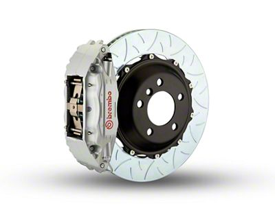 Brembo GT Series 4-Piston Front Brake Kit - Type 3Slotted Rotors - Silver (97-03 4WD F-150)