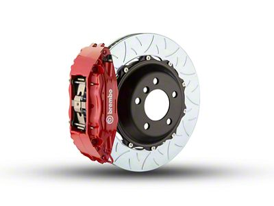 Brembo GT Series 4-Piston Front Brake Kit - Type 3 Slotted Rotors - Red (00-03 2WD F-150)