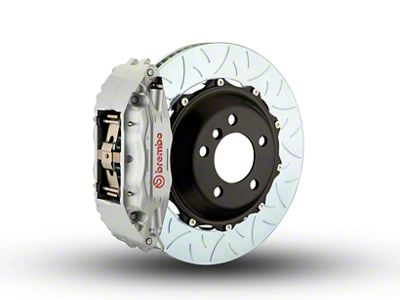 Brembo GT Series 4-Piston Front Brake Kit - Type 3 Slotted Rotors - Silver (00-03 2WD F-150)