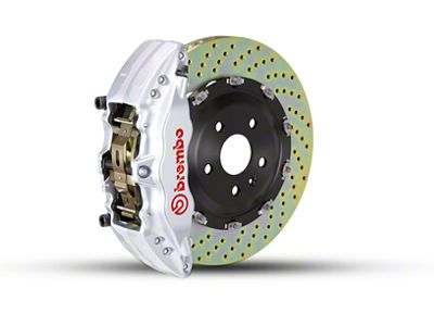 Brembo GT Series 6-Piston Front Brake Kit - 2-Piece Cross Drilled Rotors - Silver (09-14 2WD F-150)