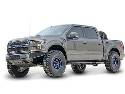 N-Fab Wheel to Wheel Nerf Side Step Bars - Gloss Black (17-18 F-150 Raptor SuperCrew)