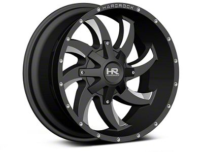 Hardrock Offroad H700 AFFLICTION Black Milled 6-Lug Wheel - 20x10 (04-18 F-150)