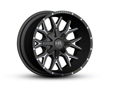 Hardrock Offroad H700 AFFLICTION Black Milled 6-Lug Wheel - 20x12 (04-18 F-150)