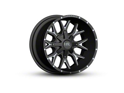 Hardrock Offroad H700 AFFLICTION Black Milled 6-Lug Wheel - 22x10 (04-18 F-150)