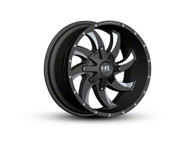 Hardrock Offroad H701 DEVIOUS Black Milled 6-Lug Wheel - 20x10 (04-19 F-150)