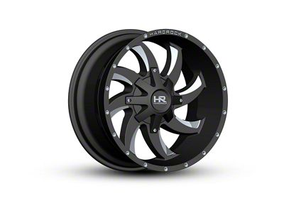 Hardrock Offroad H701 DEVIOUS Black Milled 6-Lug Wheel - 22x10 (04-18 F-150)