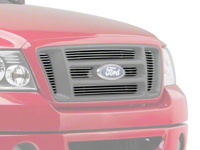 Modern Billet 6-Piece Billet Upper Overlay Grille - Polished (04-08 F-150 FX4, STX, King Ranch)