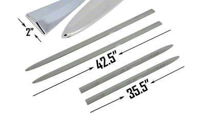 ABS Bodyside Moldings - Chrome (04-08 F-150 SuperCrew)