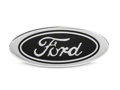 Defenderworx Oval Ford Script Hitch Cover - Black (97-19 F-150)