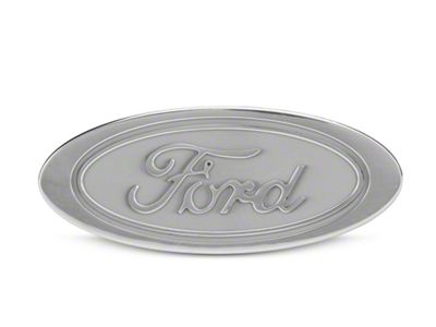 Defenderworx Oval Ford Script Hitch Cover - Silver (97-19 F-150)