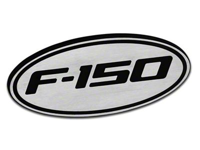 Defenderworx Oval Hitch Cover w/ F-150 Logo - Brushed (97-19 F-150)