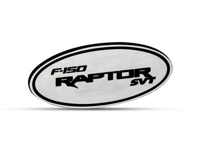 Defenderworx Oval Hitch Cover w/ F-150 Raptor SVT Logo - Brushed (97-19 F-150)