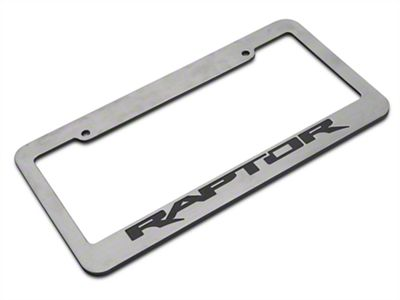 Defenderworx Chrome License Plate Frame w/ Raptor Logo (97-19 F-150)