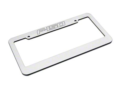 Defenderworx Brushed License Plate Frame w/ F-150 Logo (97-19 F-150)