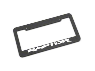 Defenderworx Matte Black License Plate Frame w/ Raptor Logo (97-19 F-150)