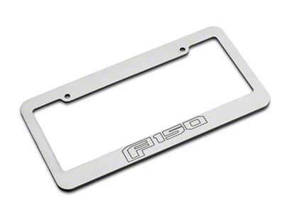 Defenderworx Brushed License Plate Frame w/ 2015 Style F-150 Logo (97-19 F-150)