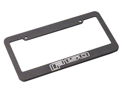 Defenderworx Black License Plate Frame w/ 2015 Style F-150 Logo (97-19 F-150)