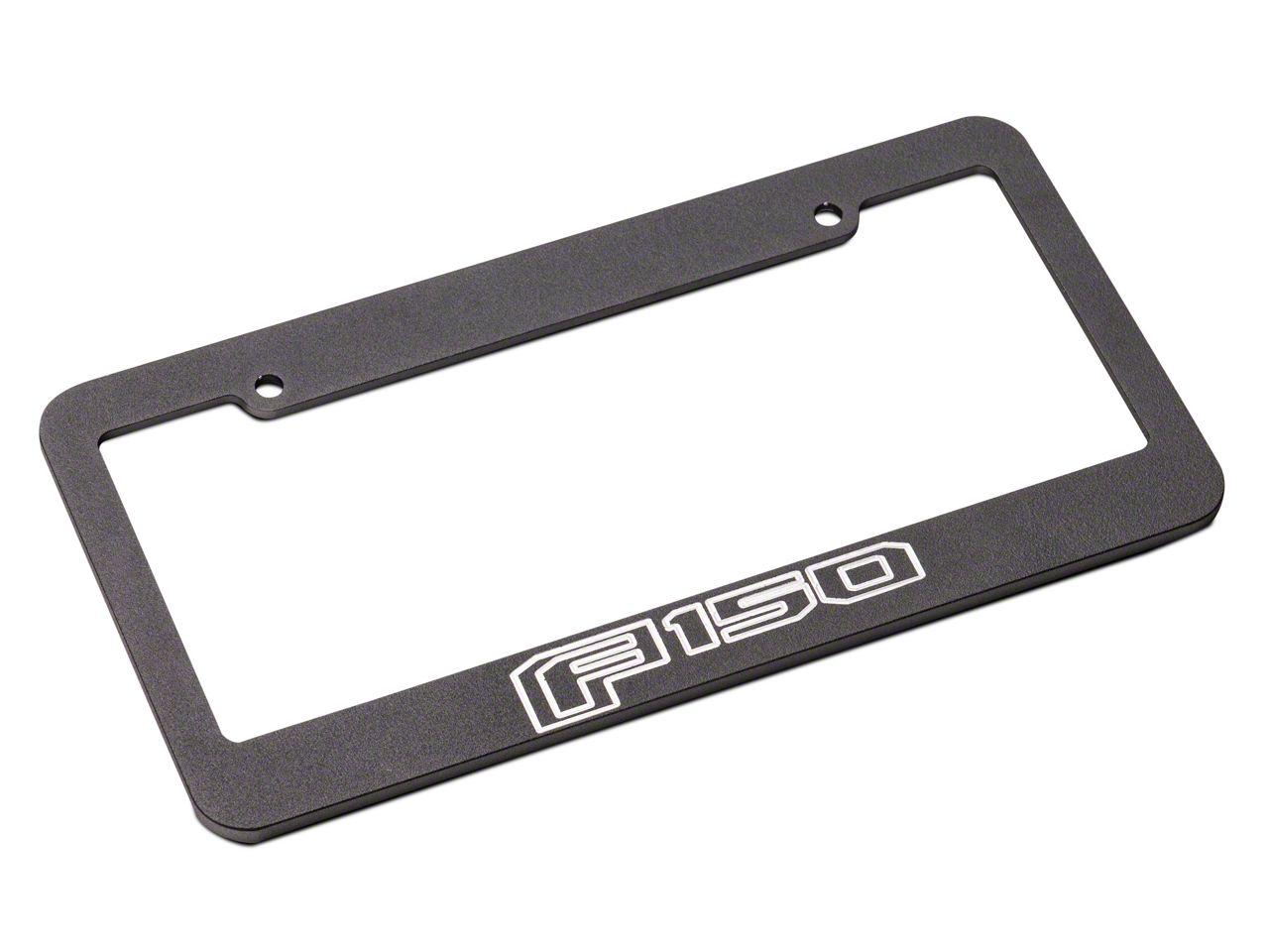 Defenderworx Black License Plate Frame w/ 2015 Style F-150 Logo (97-18 F-150)