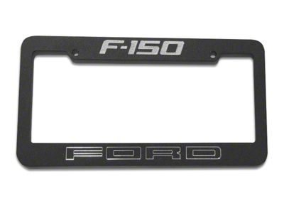 Defenderworx Black License Plate Frame w/ Ford F-150 Logo (97-19 F-150)