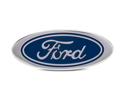 Defenderworx Oval Ford Script Hitch Cover - Blue (97-19 F-150)